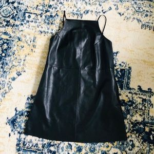 Urban Outfitters Black Leather Mini Dress